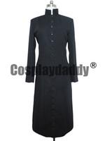Wholesale custom trench coats - THE MATRIX COSPLAY COSTUME NEO BLACK TRENCH COAT M002