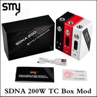 ingrosso smy box mod tc-100% Authentic Smy SDNA 200W TC Mod Scatola di controllo della temperatura del chip Evolv DNA200 originale Mod 4800mAh Kit SDNA 200 Mod