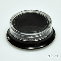 Wholesale cosmetic beauty containers wholesale - NEW Hot 100 Cosmetic Black Square Jars Thick Wall Square Beauty Containers - 3 Ml  3 Gram (Clear Cap) Plastic Empty Makeup Jar