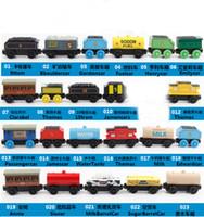 autos großhandel-Neue Holz Kleine Züge Cartoon Spielzeug Kinder Holzspielzeug Züge Freunde Holz Züge Trainer Auto Spielzeug 50 Stücke