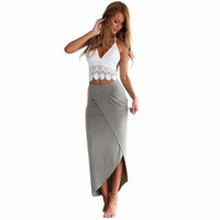 Wholesale beach style evening dresses for sale - Group buy Beach Dresses Sundress Boho Long Dresses Lace Dresses Sexy Womens Summer Maxi Evening Party Dress Bandage Backless Hollow Stitching Dresses