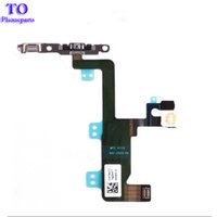 Wholesale Iphone Volume Switch - New Power Button On Off Flex Cable For iPhone 6 6G 6 Plus Mute Volume Switch Connector Ribbon Parts