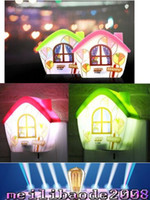 Wholesale Night Light House - 2017 NEW Love the little house electric induction led small night light Creative new strange free shipping MYY