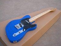 Wholesale Electric Guitar Neck Part - Best Selling ST electric guitar solid blue,maple neck,chrome parts!