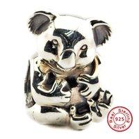 koala schmuck großhandel-2016 Koala Silber Charm 100% 925 Sterling Silber Perlen Für Pandora Charms Armband Authentische DIY Modeschmuck