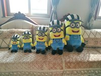 Wholesale Despicable Stuffed Minions - Minions 35 45 55cm Despicable Me Stuffed Animals Plush Toys 3D Stereoscopic Glasses October New Arrvial Hot Sale Birthday Gift Free Shipping