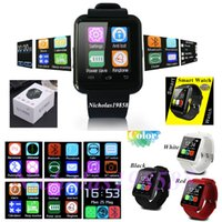 """Wholesale A1 Work - U8 Smart Watch Wrist Watch Working Call Phone Bluetooth For Android Phone Samsung LG HTC 1.44""""LED U8 U Watch Touch Screen VS DZ09 GT08 A1"""