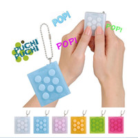Multicolor squeeze music - Mugen Puti Puti Bubble Pop Keychain Electronic Bubble Wrap Puchi Puchi Keyring Infinite squeeze Bubble Decompress Speaker Joke toy