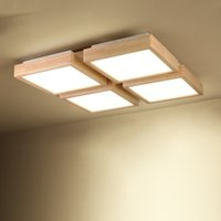Canada Hot 2016 Japanese Style Bedroom Lamp Living Room Ceiling Light Wood Led New Modern