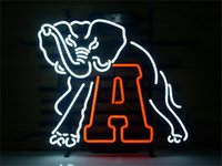NEON SIGN NCAA ALABAMA CRIMSON TIDE FOOTBALL Negozio personalizzato Show Bar birra Pub club Luci Segni Shop Decorare le lampadine di vetro reale