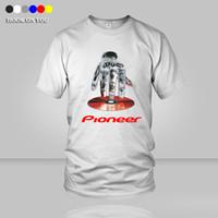Wholesale Shirt Men Music - Wholesale-2016 new cotton pioneer women Men T shirt a DJ logo t-shirt tees DJ Pioneer Pro DJ discs cracked CD music