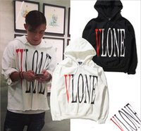 Wholesale Couple Winter Pullover - VLONE hedging autumn and winter tide brand men's long-sleeved cashmere sweater coat couple English letters printed sweater coat