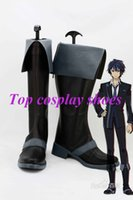 Wholesale Bullet Custom - Wholesale-Freeshipping custom-made anime Black Bullet Satomi Rentarou Cosplay Shoes Boots for Halloween Christmas festival