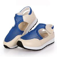 sapatos de sandália para crianças meninos venda por atacado-Verão Air Mesh Respirável Cut-outs Crianças Sneakers Nova Moda Crianças Sapatos Meninos Meninas Sandálias Zapatillas Deportivas