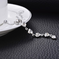 medizinische stahl bauchnabel ringe großhandel-Kristall Diamant Schmuck Zirkon Punktion medizinische Stahl Nabel Ring Nachtclub Bauchtanz Bauchnabel Taste
