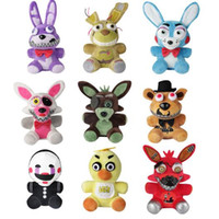 Wholesale Movie Night Gift - New Arrival Five Nights At Freddy's FNAF Plush Toys 18cm Golden Freddy Foxy Bonnie Chica Soft Stuffed Dolls Kids Gift CCA7567 60pcs