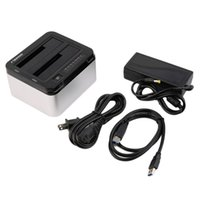 """Wholesale Hard Disc Casing - USB 3.0 to Dual Bay SATA Hard Disc Drive Case Dock 3.5"""" 2.5"""" HDD Station"""