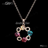 2015 New Unique Chic Flower CZ Diamond Rock Big Crystal Colar Vintage Colar Elegant Party Jewelry For Women colar DFN070
