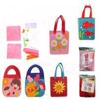 Wholesale Handbag Craft Kids - Wholesale-1Pc Handmade Non-woven Cloth Kid Create DIY Crafts Cartoon Handbags Pretend Educational Toy Girl Gift Colorful