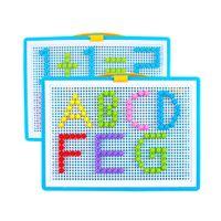 Wholesale Black Imagination - DIY 3D Puzzle Toys Children Jigsaw 295 Tablets of Variety Mushroom Nail Creativity Educational Imagination Puzzle Board