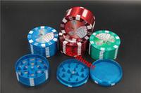 frete grátis venda por atacado-144 pçs / lote frete grátis eua Holanda grande 51 venda quente 3 camadas Triturador De Metal Metal Poker Herb Moedor De Cigarro Mão Muller