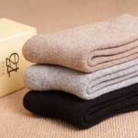 cashmere sox - New Wool Men Socks Thermal High Quality Sox Style Winter Warm Comfortable Happy s Socks