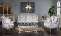 antike wohnzimmer möbel-sets großhandel-Antike Barockmöbel - klassischer Wohnzimmersatz im Rokoko-Stil - Möbelsofa SET für europäische Könige