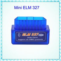 Wholesale Obd2 Elm327 Bluetooth Adapters - Super Mini ELM327 Bluetooth Interface V2.1 OBD2 Auto Diagnostic-Tool ELM 327 Works ON Android Torque PC v 2.1 BT adapter