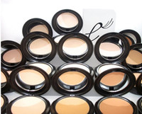 Wholesale circle shipping boxes resale online - Brand new NC NW Face Powder Makeup Studio Fix Face Powder Plus Foundation natural finishing Powder shade g NEW IN BOX drop shipping