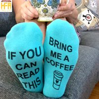Wholesale Cotton Coffee Sock - Hot Sale Short Cotton Socks If You Can Read This Print Short Long Printing Letters Sock Bring Me A Coffee Pattern For Adults Pairs Wholesale