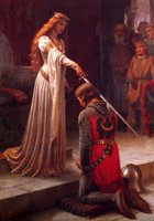 blair princess - Edmund Blair Leighton Accolade princess sword Hand painted Portrait Art oil painting on canvas For Wall decor in any size customized