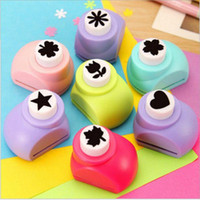 Wholesale Mini Paper Shaper Punch - Azerin DIY Paper Punch Cutter Kid Child Mini Printing Hand Shaper Scrapbook Tags Cards Craft Tool 1 PCS Free Shipping