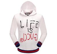 Wholesale Sweater Hoodie Hip Hop - 2018 Europe fashion brand sweater casual pullover letter print men hoodies sweatshirts streetwear men hooded jacket hip hop clothing