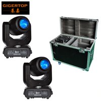 Wholesale Club Lights Moving - Stackable 2in1 Road Case 150W LED Moving Head Light DMX DJ Club Disco Stage Party Lighting US AU EU Power Plug 5 PIN Wireless Socket