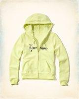 Wholesale Lady Brand Cotton Sweatshirts - Women Fashion brand Zipper hooded Sweatshirts 2017 high quality Lady letter print Outwear longsleeve hoodies Women Slim thin Clothes h41