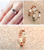 ingrosso anello coreano di anelli di oro-Versione coreana di 18 carati in oro rosa con numeri romani anello di diamanti uomini e donne coppia coda anello gioielli anello all'ingrosso
