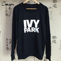 Wholesale Beyonce Clothing - Wholesale-IVY Park Letter Print Women T-Shirt Beyonce Clothes Tee Tops 2016 Summer Woman Long Sleeve T shirts Cotton Fashion Tshirt QA1205