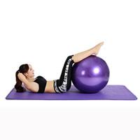 Wholesale purple yoga balls - 45cm Exercise Fitness Aerobic Ball for GYM Yoga Pilates Pregnancy Birthing E00856
