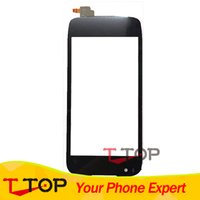 передние панели оптовых-Wholesale- 4.5 inch Front Glass Panel Touchscreen For  IQ4405 Evo Chic 1 Touch Screen Digitizer 1PC/Lot