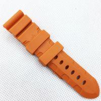 водонепроницаемые часы оптовых-26 мм 120/75 мм мода оранжевый силиконовой резины водонепроницаемый ремешок ремешок для PAM LUNMINOR RADIOMIR часы