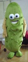 Wholesale Cucumber Mascot Make - SM0429 a fruit macot costume an adult cucumber mascot costume with big eyes for adult to wear