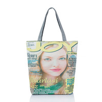 Wholesale Zipper Wallet Shopping Bag - Wholesale-Beauty Magazine Canvas Tote Female Casual Beach Bags Large Capacity Women Single Shopping Bag Daily Use Canvas Handbags