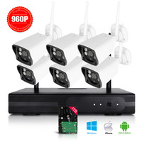 Wholesale Hard Disk Camera Security System - 8CH 960P HD WI-FI NVR Security Wireless Network System Night Vision IP Surveillance Camera Kit CCTV Security System 1TB Hard Disk