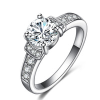 Wholesale Wholesale Personalized Diamond Silver Jewelry - 20PCS 925 sterling silver rings female models diamond jewelry Korean personalized fashion jewelry Hearts and Arrows diamond ring
