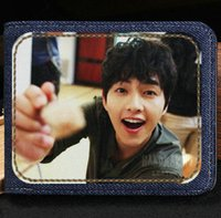 Portafoglio Song Joong Ki Portamonete Hot star Custodia per banconote piccola pop star Soldi notecase Portaborse in pelle Porta carte