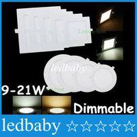 ultra dünnes vertieftes licht dimmbar großhandel-CER ul saa Dimmable führte Instrumententafel-Leuchte-ultra dünne 9W 12W 15W 18W 25W führte vertiefte Decken-Downlights-Küchen-Lampe mit Treibern