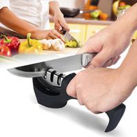 алмазная заточка сталей оптовых-Профессиональный точилка для ножей Алмаз из нержавеющей стали нож точильный инструмент карбид керамический нож кухонные инструменты точильный камень