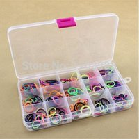 Wholesale Wholesale Loom Band Storage Box - Empty 15 Compartment Plastic Clear Storage Box For Jewelry Rainbow loom bands Container Sundries Organizer, 120PCS 160318#