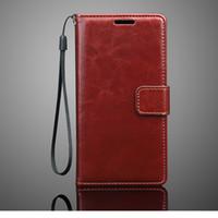 personalize a caixa do telefone da aleta venda por atacado-Personalizado Flip PU Leather Wallet Phone Case Capa Mobile Phone Bag Bag carteira para o iphone 7