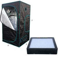 Wholesale Australia Led Lights - Marshydro hydroponic 1200W LED grow light + Mylar 1680D 4'9''x 4'9''x 6'7'' Grow tent stock in USA UK Canada Germany Australia Russia